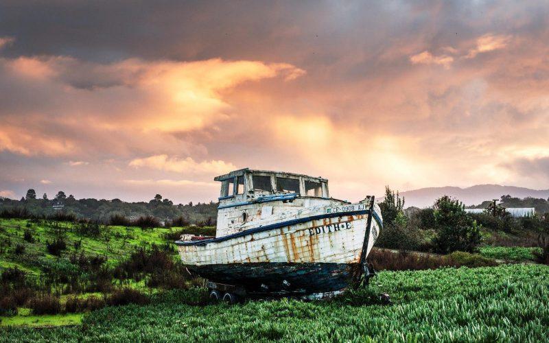 Gasfles boot schip