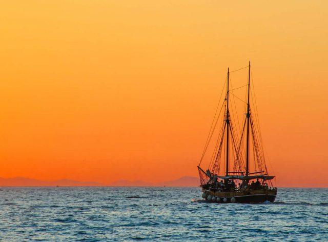 gasfles aan boord boot schip